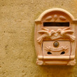 Terracotta mailbox — Stock Photo