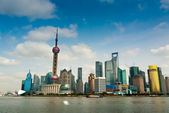 Shanghai Pudong seen from the Bund — Stock Photo