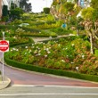 Lombard street from below - Stock Photo