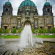 Berlin Cathedral and fountain - Stock Photo