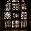 Carved window silhouette - Stock Photo