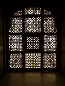 Carved window silhouette — Stock Photo