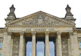 Reichstag front — Stock Photo