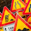 Roadwork signs — Stock Photo