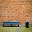 Bench and Brick Wall — Stock Photo #22197439