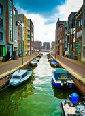 Lamong Canal in Amsterdam — Stock Photo