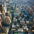 View over Lower Manhattan New York - Stock Photo