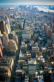 Uitzicht over lagere manhattan new york — Stockfoto