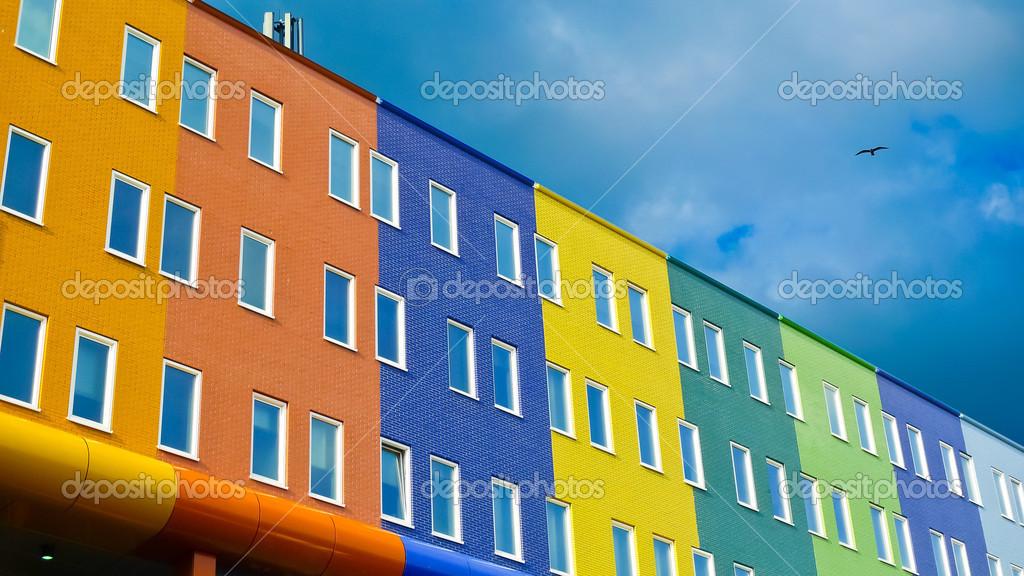 piastrelle mattoni moderni : Scarica - Mattoni colorati edifici moderni piastrelle facciate a ...