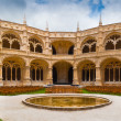Jeronimos Monastery Cloister Panoramic - Stock Photo