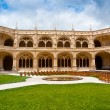 Jeronimos Monastery Cloister - Stock Photo
