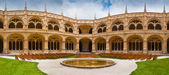 Jeronimos Monastery Cloister Panoramic — Stock Photo