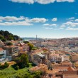 Sao Jorge Castle and Baixa Panoramic — Stock Photo