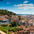 Sao Jorge Castle and Baixa — Stock Photo