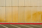 Corrugated Tin Wall — Stock Photo