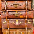 Stacked Suitcases - Stock Photo