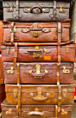 Stacked Suitcases — Foto de Stock