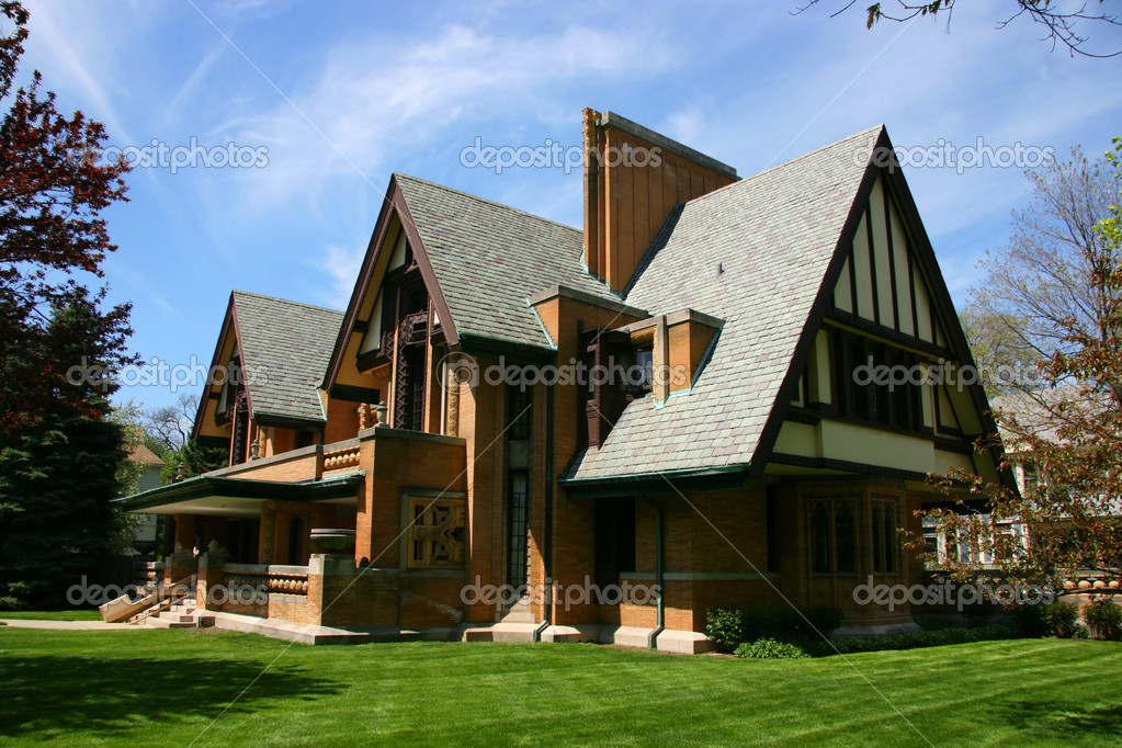 Frank Lloyd Wright Moore Dugal House Stock Photo