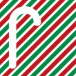 Candy cane silhouette — Stock Photo #2471742