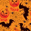 Halloween seamless background - Stockvectorbeeld