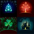 Royalty-Free Stock Vector Image: Set of decorative holidays cards