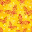 Seamless background with butterflys - Stock Vector