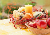 Autumn garden decor — Stock Photo