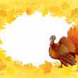 Thankgiving card with turkey — Stock Vector