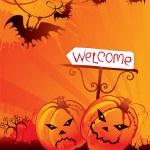 Halloween welcome card — Stock Vector