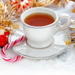 Christmas tea cup — Stock Photo #33240811