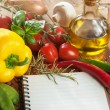 Notepad for recipes — Stock Photo