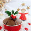 Christmas winter cake — Stock Photo