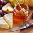 Cheese with Honey — Foto de Stock