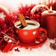 Red Christmas tecup — Stock Photo #36604175