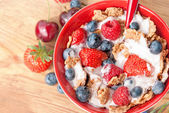 Cereals with berry — Stock Photo