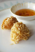 Crispy prawn dumpling — Stock Photo