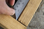 Measuring right angle — Stock Photo