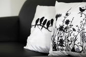 Pillows on the couch — Stockfoto