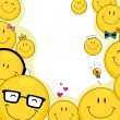 Stock Photo: Smileys Background