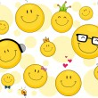 Smileys Background — Stock Photo