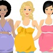 Pregnant Group - Stock Photo