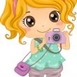 Caucasian Photographer — Stock Photo