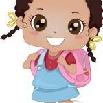 African-American Schoolgirl — Stock Photo
