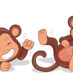 Laughing Monkeys — Stock Photo #12583936