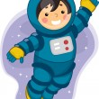 Astronaut Boy - Stock Photo