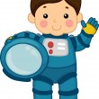 Stock Photo: Astronaut Boy