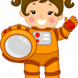 Astronaut Girl — Stock Photo