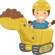 Bulldozer Kid — Stock Photo #12584010