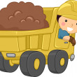Stock Photo: Dump Truck Kid