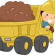 Dump Truck Kid — Stock Photo #12584011